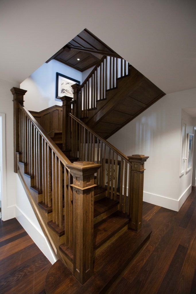 rustic wooden stairs