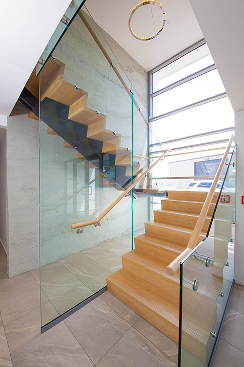 commercial building stairs